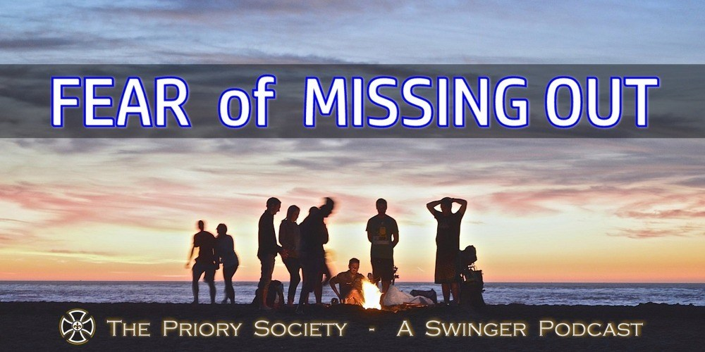Swingers on the beach enjoying a fire with the Priory Society Podcast