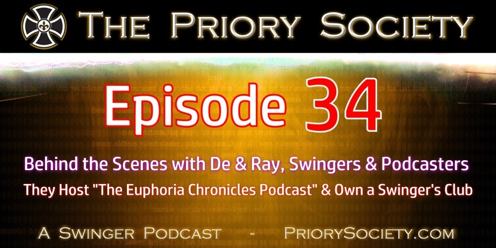 Graphic Banner for Episode 34 of the Priory Society Swingers Podcast.