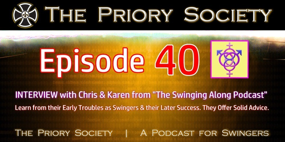Image announcing episode 40 of the priory society podcast. An interview with the