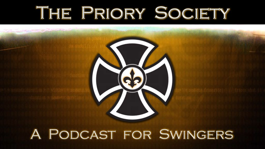 Banner for the homepage of the Priory Society Podcast for Swingers